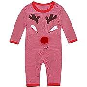 Jingle Bongala Baby Boys' Romper Long Sleeve Cotton Jumpsuit Onesie (3-6months, Boat White)