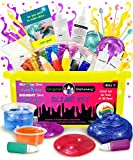 DIY Slime Kit for Girls Boys: Ultimate Slime Making Kit with Add Ins Supplies for Alien Egg Slime, Crystal, Glitter, Unicorn and More - Fun Slime Kits for Kids (Yellow, 44pcs)