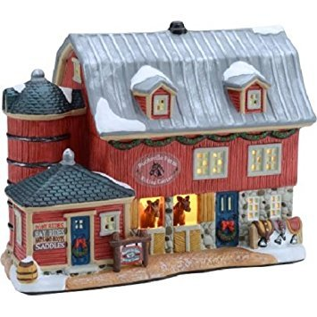 "6.5"" Bucksville Farm Christmas Village , Holiday Time"
