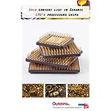 Gold content list in Ceramic CPU's processors chips