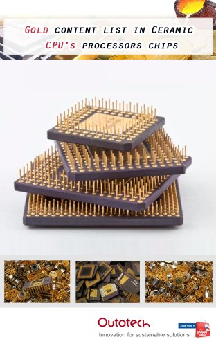 Gold content list in Ceramic CPU