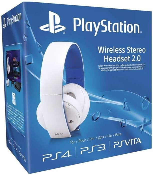 Sony - Auriculares Inalámbricos Stereo, Color Blanco (PS4, PS3, PS Vita): Amazon.es: Videojuegos