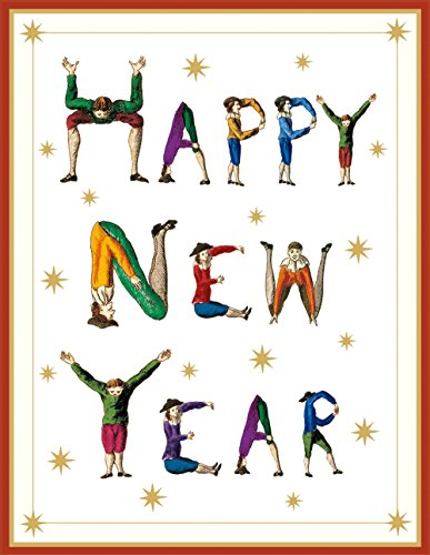 [Entertaining with Caspari New Year Hotch Potch Christmas Cards (Box of 16)] (Jesus Christmas Card)