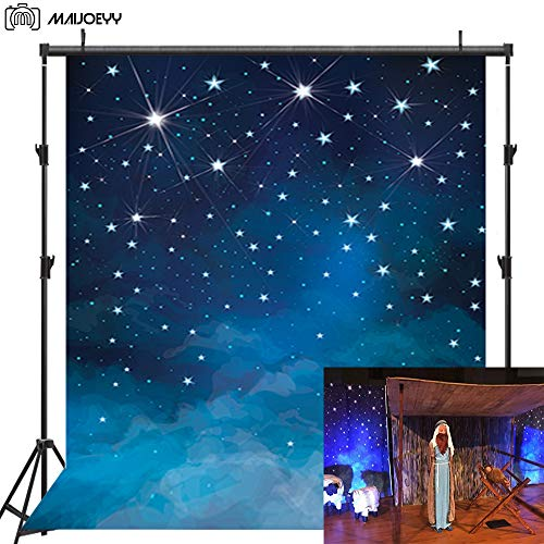 Maijoeyy 5x7ft Twinkle Twinkle Little Star Photo Backdrop Decorations Photography Props Star Wars Party Photography Backdrops Night Sky Photo Backdrop Studio for Children Kids Backdrop