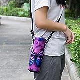 AUPET Water Bottle Carrier,Purple Butterfly 500ML