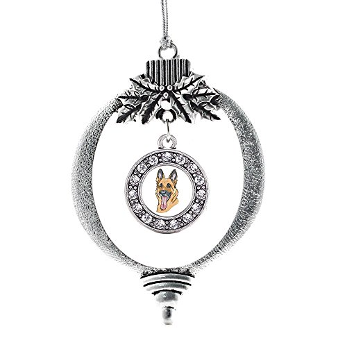 Inspired Silver The German Shepherd Circle Holiday Decoration Christmas Tree Ornament O Christmas Tree In German