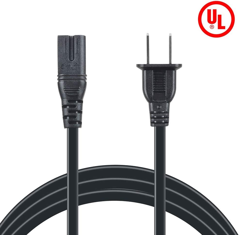 ABLEGRID 5ft AC Power Cord Outlet Socket Cable Plug Lead fits for JVC PCRX110 PCW222BK PCX101 PCX105 QMP1350-183 FS-A52 FS-MD9000 CD Mini Audio Compact Component System