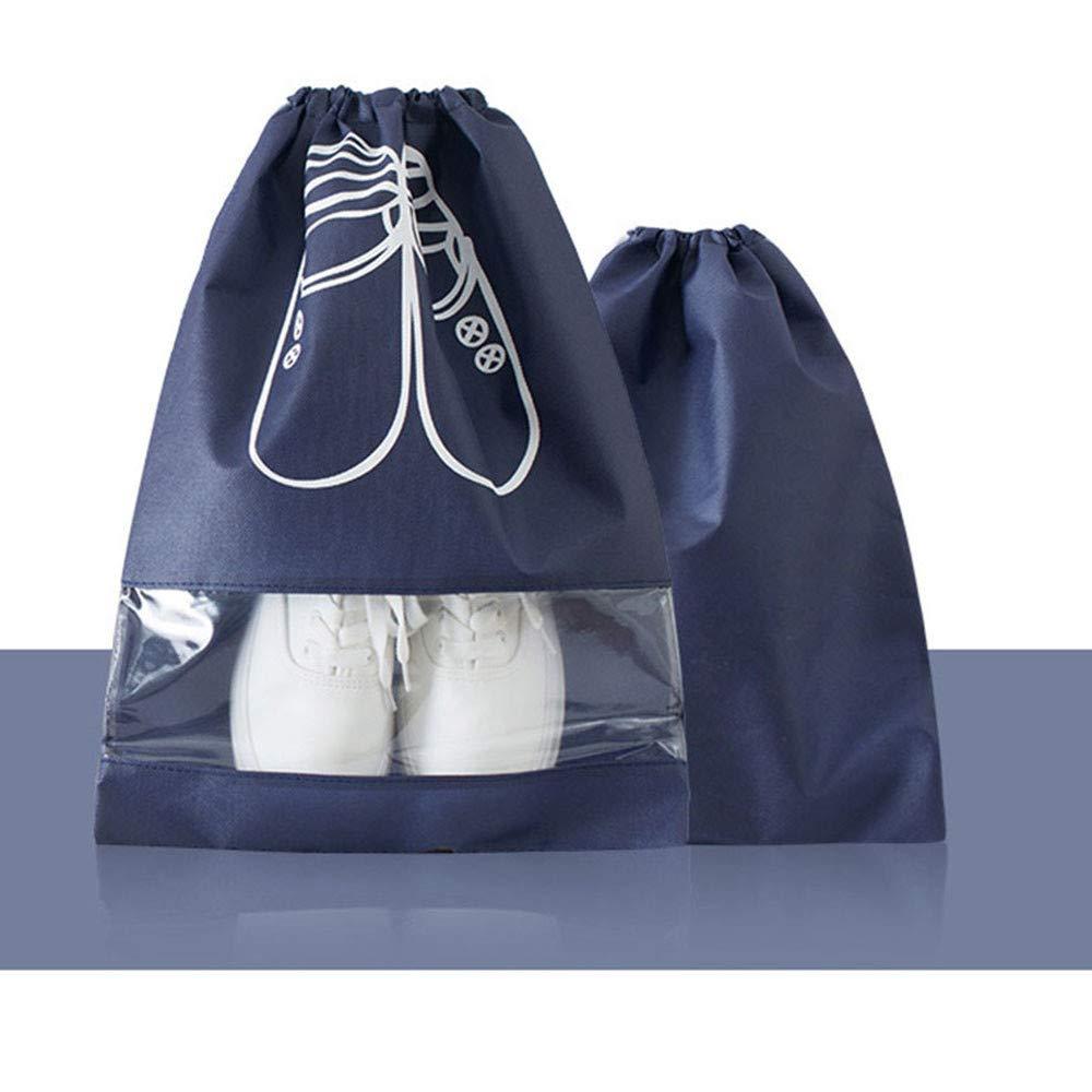 STRIR 10 Piezas Bolsas de Zapatos,Multifunción a Prueba de Polvo para Viajes, Bolsa Impermeable Telas no Tejidas con Ventana Transparente (Azul Cielo, M - 35.5x27cm)