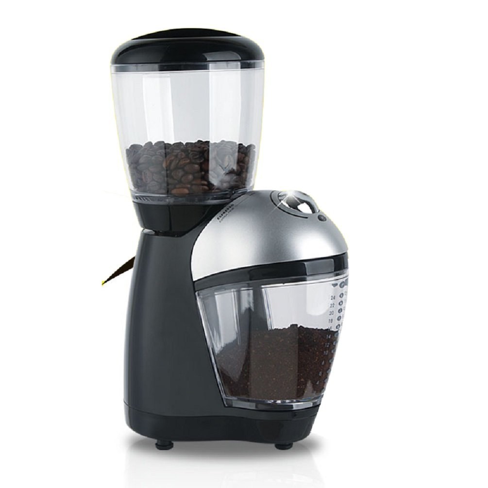 Enshey Smart Grinder Pro Coffee Bean Grinder Automatic Burr Mill Grinder Maker Machine, Stainless Steel Blade Grinds Coffee Beans, Grains and Nuts, Electric Grinder, 5 Stalls