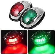 Obcursco LED Boat Navigation Lights, Boat Bow Light,Marine Boat Navigation lamp. Perfect for Pontoon, Skeeter,
