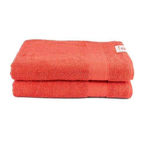 Essential Set of 2 Bath Towel Pink/Pink