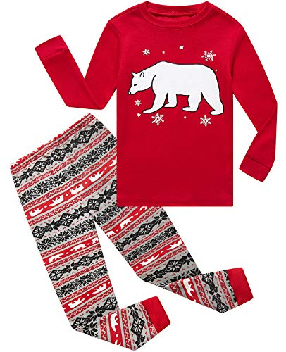 Boys Girls Christmas Pajamas Bear Cotton Toddler Clothes