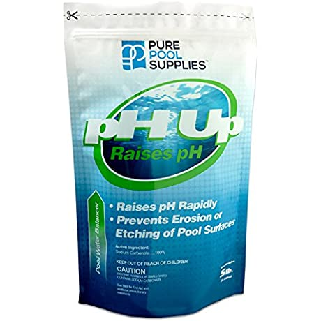 Pure Pool Supplies PH Up 5 Lbs PH Increaser PH Plus Soda Ash Sodium Carbonate Pool Spa Balancer