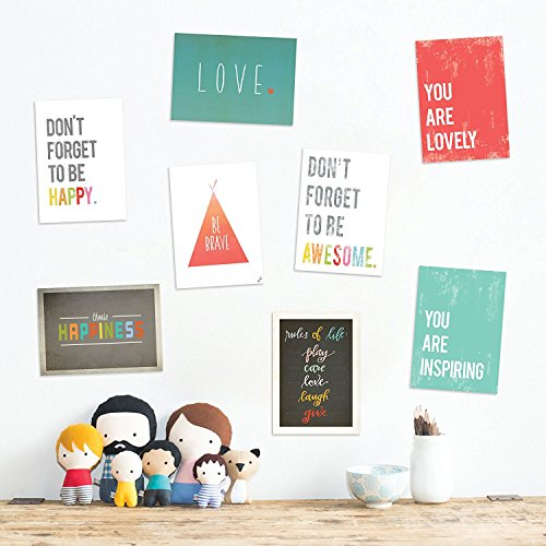 The Rules Mini Collection 18x24 Inch Canvas Wall Art Prints, Typography, Nursery Decor, Kid's Wall Art Print, Kid's Room Decor, Gender Neutral, Motivational Word Ar by Children Inspire Design