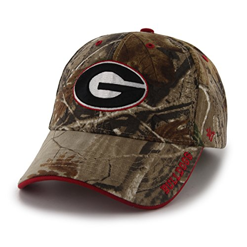 ('47 NCAA Georgia Bulldogs Frost MVP Adjustable Hat, One Size, Realtree Camouflage)