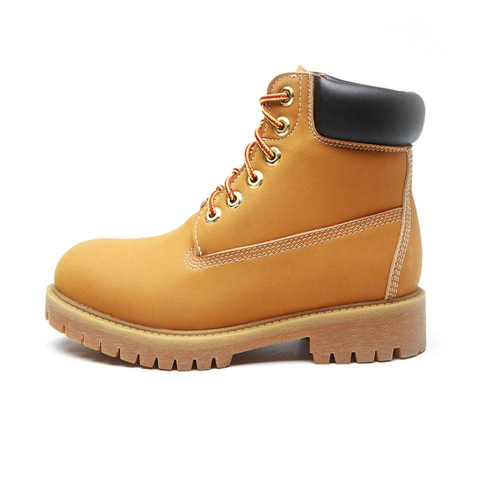 CHENGREN Kurze und Stiefel Herbst und Kurze Winter Retro Stiefel große Schuhe, Gelb 0d25f0