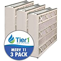 Tier1 16x25x3 Merv 11 Trion / Air Bear / General 259112-101 AB3162511 Comparable AC Furnace Air Fi