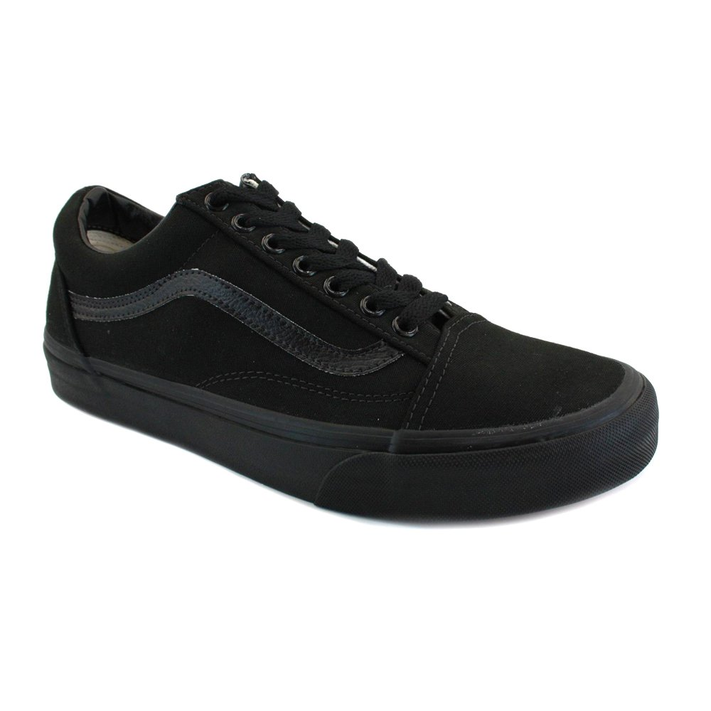 Vans Authentic Unisex Skate Trainers Shoes (42-43 M EU/11 B(M) US Women/9.5 D(M) US Men, Black/Black) by Vans (Image #1)