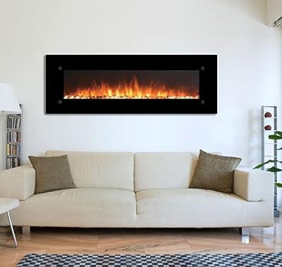 Touchstone 80005 OnyxXL Wall Mounted Electric Fireplace, 72 Inch Wide, 1500/750 Watt Heater (Black)