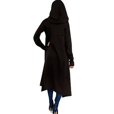 1607bcd23fa mioim Fashion Womens Asymmetric Maxi Pullovers Hoodie Dress Kangaroo Pocket  Cowl Neck Long Sleeve Tops  Amazon.co.uk  Clothing