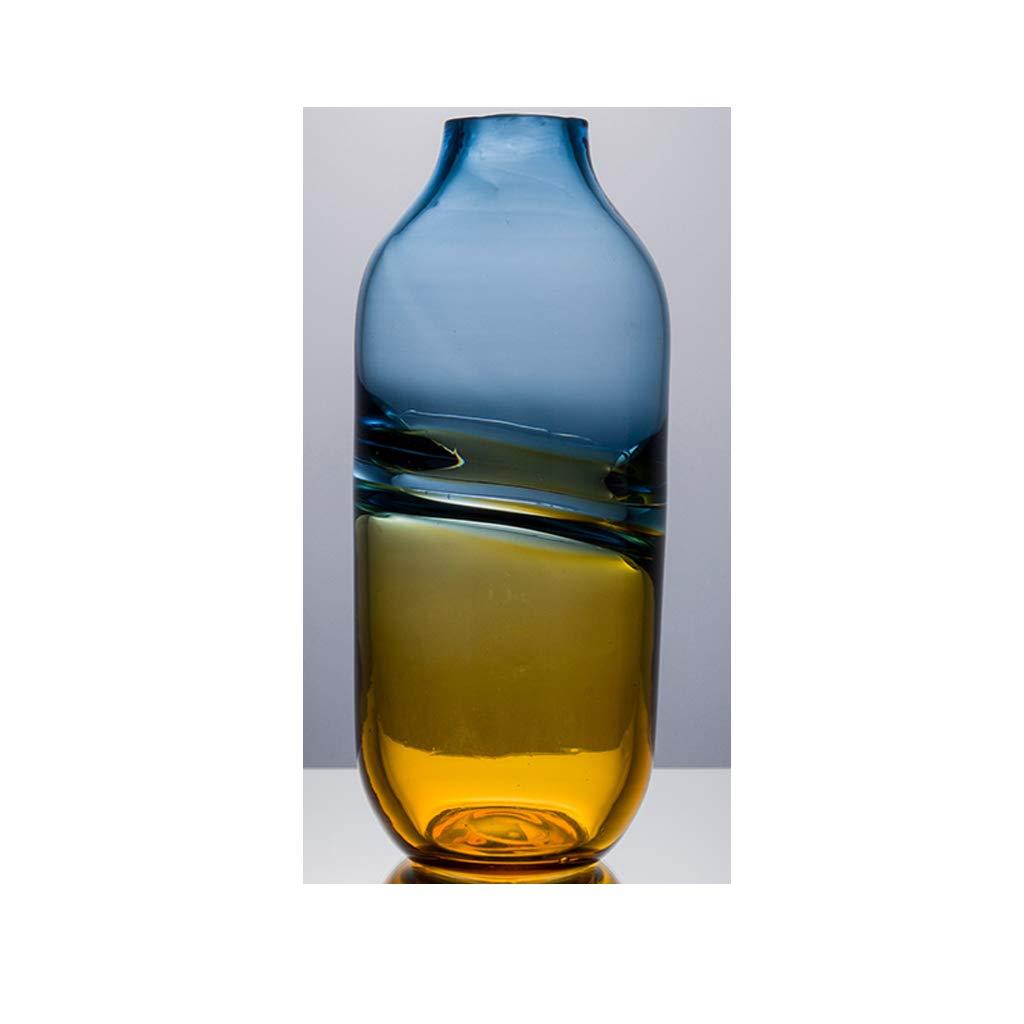 ガラス花瓶の居間の花の装飾/水耕植物の花瓶/カウンタートップの花瓶 JSFQ (サイズ さいず : 33cm×16cm) B07S5PKL2L  33cm×16cm