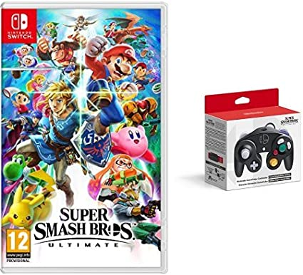 Super Smash Bros - Ultimate with 2 x GameCube Controllers - Super Smash Bros. Edition - Nintendo Switch [Importación inglesa]: Amazon.es: Videojuegos