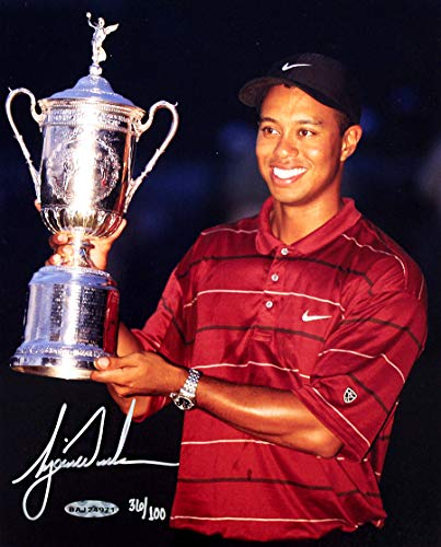 Tiger Woods Sports Memorabilia - Tiger Woods Signed Autographed 2002 US Open 8x10 Photo - Limited Edition