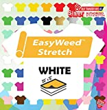 """Office Products : Siser Easyweed Stretch Heat Transfer Vinyl 20"""" x 1 Foot - White"""