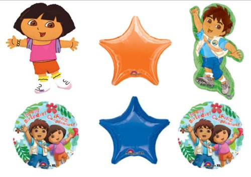 DORA THE EXPLORER AND DIEGO BIRTHDAY PARTY Balloons Decorations -