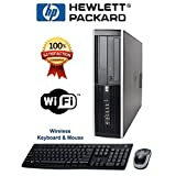 HP Compaq 6000 Pro SFF Desktop PC - Intel Core2Duo 3.16GHz 8GB 1TB DVD Windows 7 Pro - Wireless keyboard and Mouse - WiFi Ready