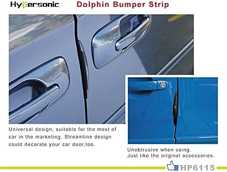 Hypersonic 2/piezas negro para puerta de coche Edge Guardia parachoques protector moldura Trim