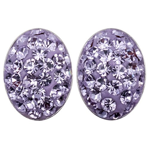 YACQ 925 Sterling Silver Crystal Easter Egg Oval Shaped Stud Earrings For Women - Items Shaped Oval