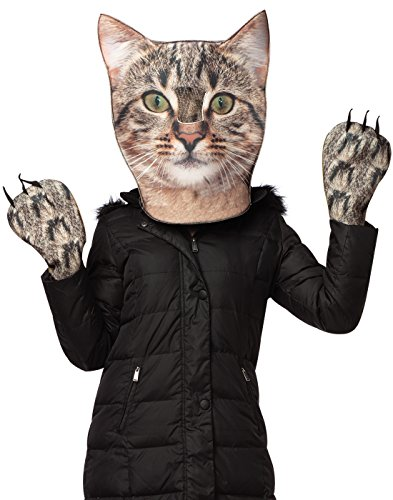 Kitty Costumes For Adults (Rasta Imposta Women's Kitty Kit Head and Paws, Gray, One Size)