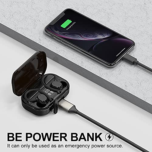 Judneer Wireless Headphones, Bluetooth Earbuds Sport 5.0 In-Ear with HD Mic, Wireless Earbuds 56H Playtime, HiFi Stereo Sound, Charging Case with LED Display, IPX7, CVC8.0 Noise Cancelling for Gym