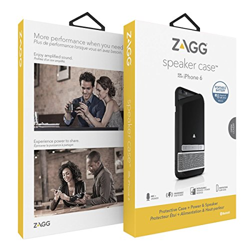 ZAGG Wireless Bluetooth Speaker and Battery Case for Apple iPhone 6 / iPhone 6S - Blue by ZAGG (Image #1)