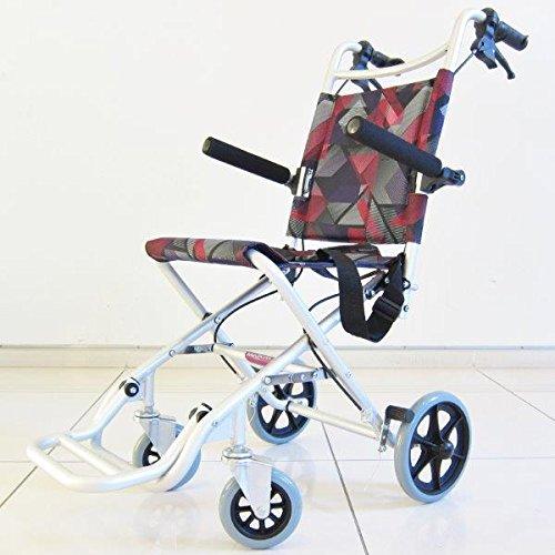 タッチ レッドパープル 簡易車椅子 軽量 コンパクト 旅行用 折りたたみ式 ノーパンクタイヤ A502-AKRP カドクラ B00N73MBV8