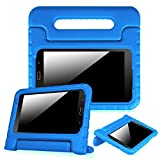 Fintie Samsung Galaxy Tab E Lite 7.0 Case - Kiddie Series Light Weight Shock Proof Convertible Handle Stand Kids Friendly Cover for Tab E Lite SM-T113 / Tab 3 Lite 7-Inch Tablet (Blue)