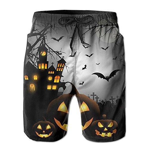 Big Boy Quick Dry Halloween Background With Pumpkins Beach Shorts Swim Trunks Board Shorts (Les Activites De L'halloween)