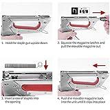 Hand Staple Gun Kit, KeLDE Light Stapler Tacker fit