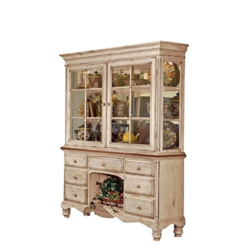 Hillsdale Wilshire Buffet and Hutch in Antique White Finish by Hillsdale (Image #3)