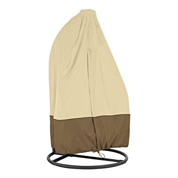 Waterproof Oxford Fabric with PVC Lining Furniture Protective Cover for Rattan Wicker Swing Seat Chair HONCENMAX Patio Hanging Chair Cover- Cocoon Egg Chair Cover