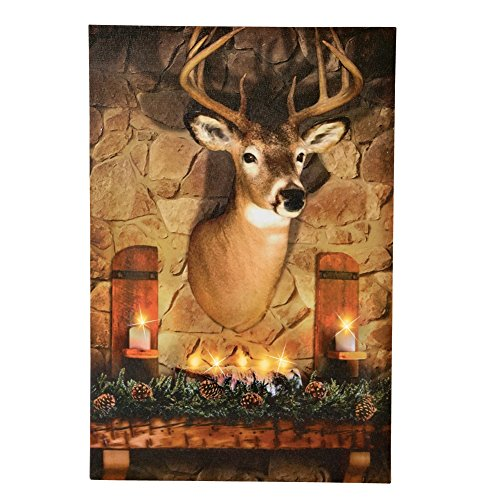 Lighted Evergreen Hanging Cardboard Polyester