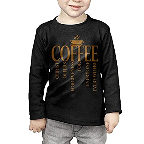Jesus Coffee Logo Toddler Long Sleeve Cotton Tee - Barbera Coffee