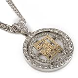 Janestore Fashion Pendant Rap Rock 50 Cent Fifty Crystal Chain Necklace