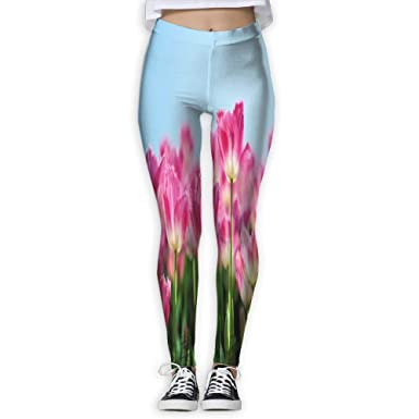 197dcdf6111bb Image Unavailable. Image not available for. Color: Womens Yoga Pants  Beautiful Lotus Flower Slim Fit Leggings Sport Trousers