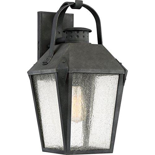 Carriage Large (Quoizel CRG8410MB One Light Outdoor Wall Lantern, Large, Mottled Black)