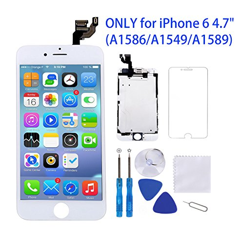 for iPhone 6 Screen Replacement White 4.7
