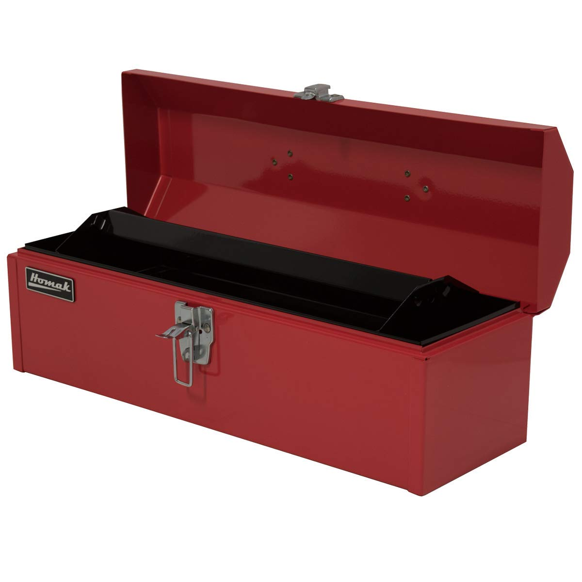 Homak Manufacturing RD00119200 Steel Hip-Roof Tool Box Red 19 x 6 x 6-1//2-Short