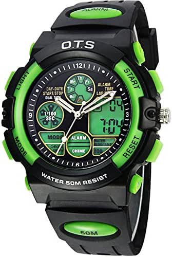 Boy running hand/Stylish multifunctional waterproof digital watches-G