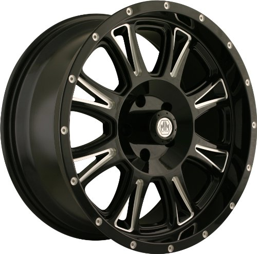Mayhem 8050 Hammer Black Wheel with Milling Spokes (18x9/6x135mm)
